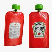 Кетчуп в саше 3d model