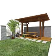 jardín modelo 3d