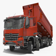 Ciężki samochód ciężarowy wywrotka 8X8 uzbrojony 3d model