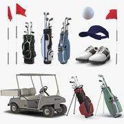 골프 장비 컬렉션 3 3d model
