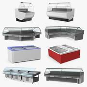 Коллекция дисплеев холодильника 3d model
