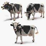 Collection de vache animée 3d model