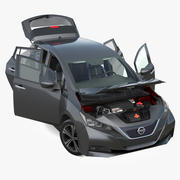 Nissan Leaf 2019 riggad 3d model