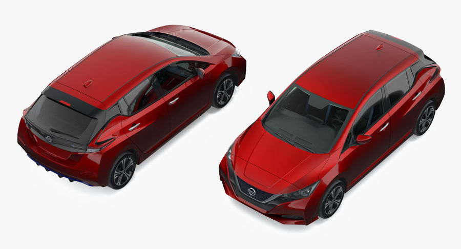 Nissan Leaf 2019 royalty-free modelo 3d - Preview no. 24