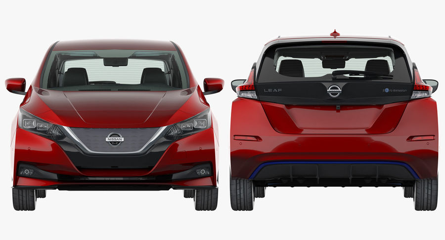 Nissan Leaf 2019 royalty-free modelo 3d - Preview no. 23