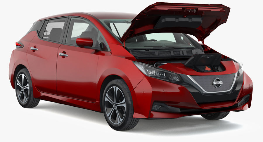 Nissan Leaf 2019 royalty-free modelo 3d - Preview no. 7