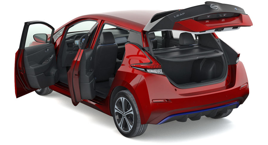 Nissan Leaf 2019 royalty-free modelo 3d - Preview no. 15