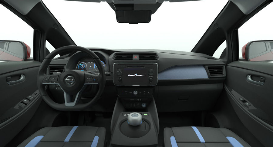Nissan Leaf 2019 royalty-free modelo 3d - Preview no. 12