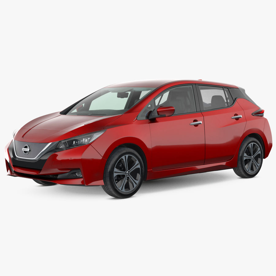 Nissan Leaf 2019 royalty-free modelo 3d - Preview no. 1