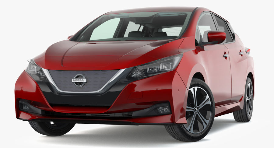 Nissan Leaf 2019 royalty-free modelo 3d - Preview no. 18