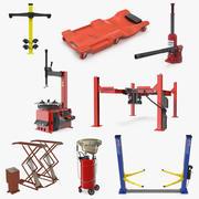 Garage Equipment Collection 3d model