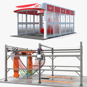 Rigged Car Wash Systems Collection 3d model