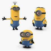 Kolekcja Rigged Minions 3d model