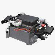 닛산 리프 엔진 3d model