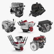 Car Engines Collection 3d model