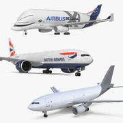 Cargo Aircrafts Collection 3d model