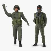 米軍パイロットリギッドコレクション 3d model