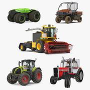Coleção Rigged Farm Vehicles 3d model