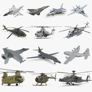 Rigged US Military Aircrafts Collection 2 3d model