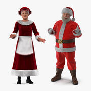 Collection Rigged Mr et Mme Claus 3d model