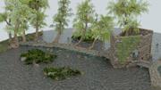 Scenario storico unico vicino a un fiume 3d model