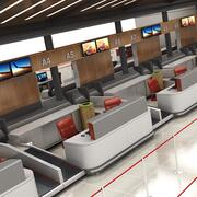 Luchthaven Check-in CS-balie 3d model
