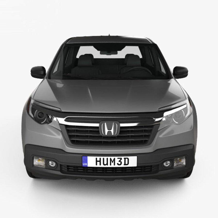 Honda Ridgeline RT 2017 royalty-free 3d model - Preview no. 10