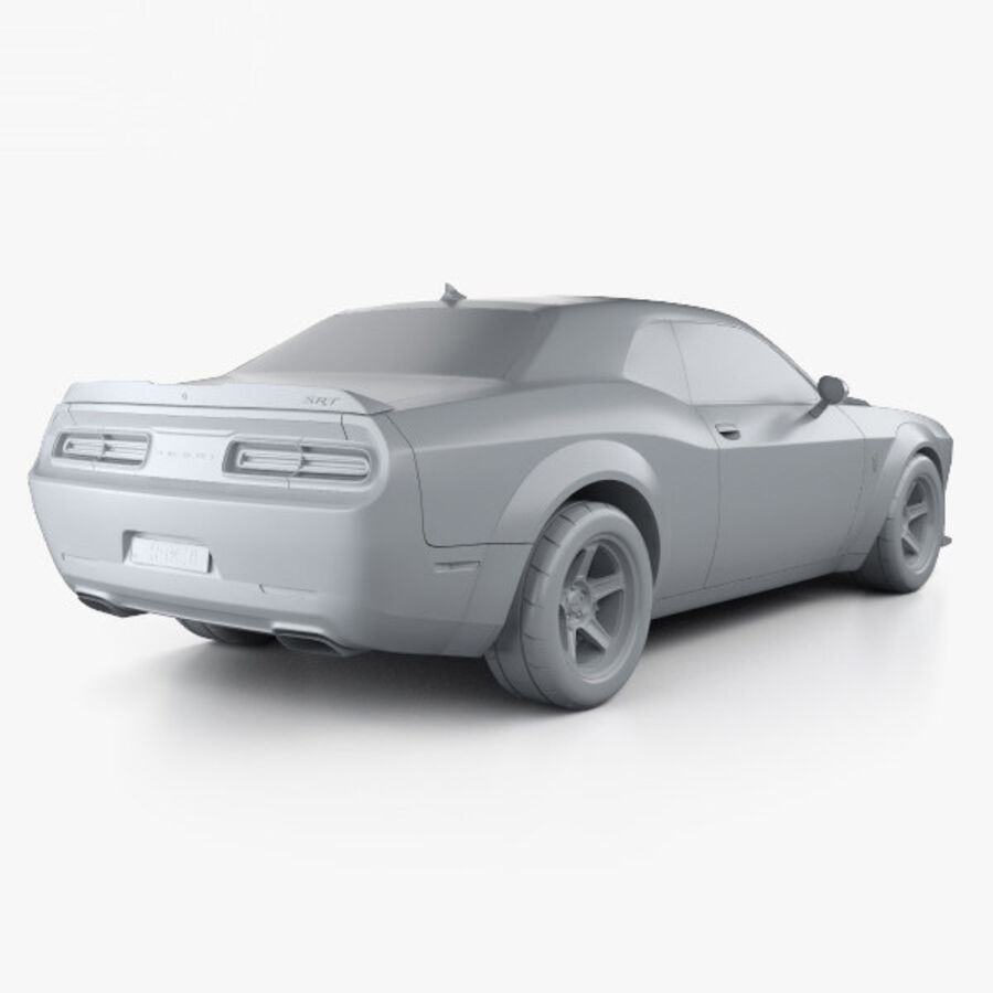 Dodge Challenger SRT Demon 2018 royalty-free 3d model - Preview no. 12