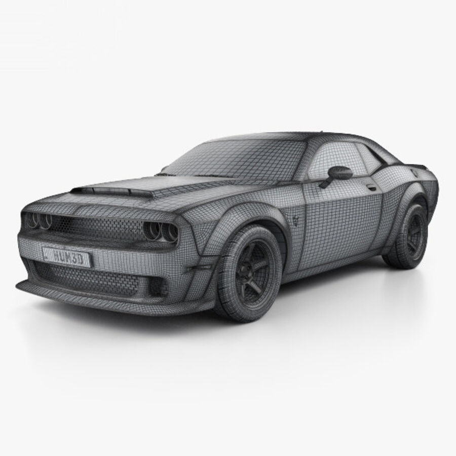 Dodge Challenger SRT Demon 2018 royalty-free 3d model - Preview no. 3