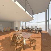 Общий интерьер офиса 01 3d model