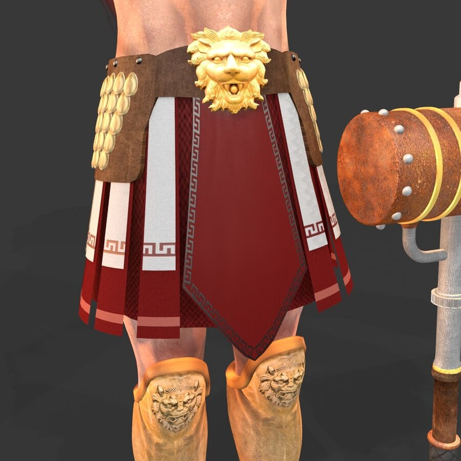 Hephaestus royalty-free 3d model - Preview no. 15