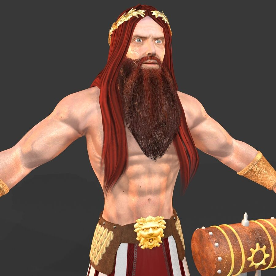 Hephaestus royalty-free 3d model - Preview no. 11