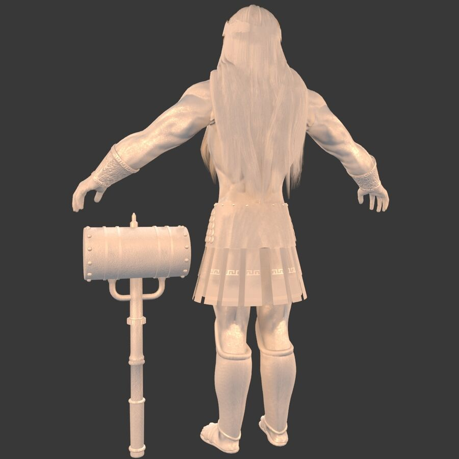 Hephaestus royalty-free 3d model - Preview no. 23
