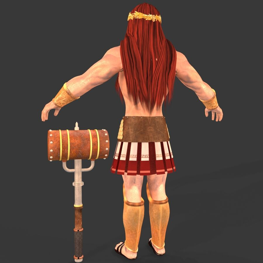 Hephaestus royalty-free 3d model - Preview no. 5