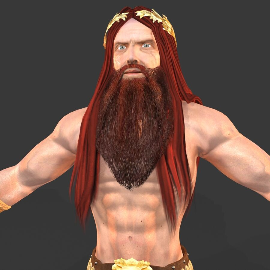 Hephaestus royalty-free 3d model - Preview no. 12