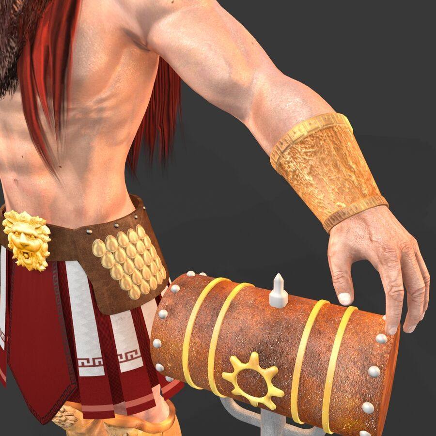 Hephaestus royalty-free 3d model - Preview no. 17
