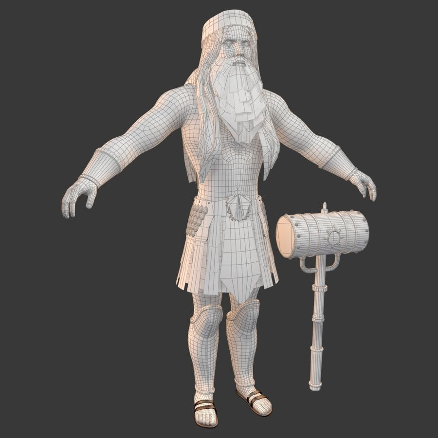 Hefesto royalty-free 3d model - Preview no. 24