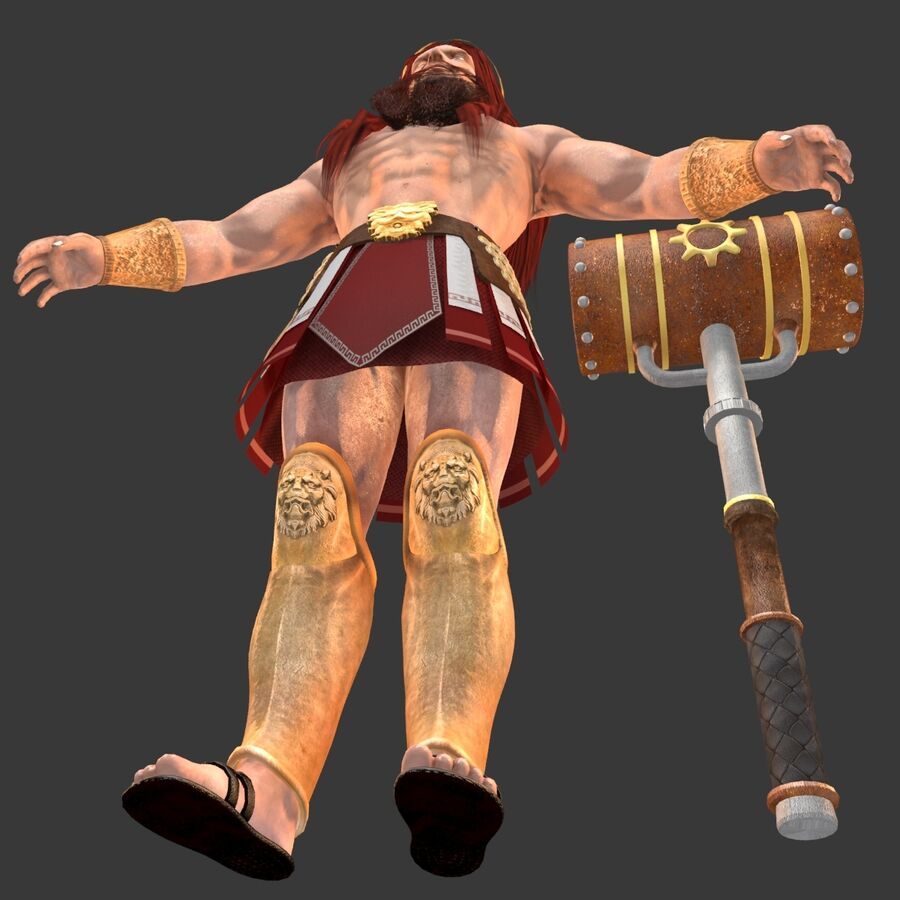 Hephaestus royalty-free 3d model - Preview no. 20