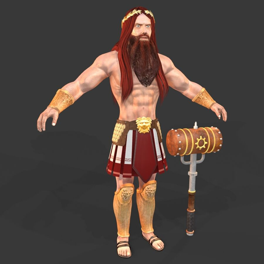 Hephaestus royalty-free 3d model - Preview no. 1