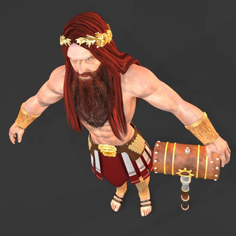 Hephaestus royalty-free 3d model - Preview no. 19