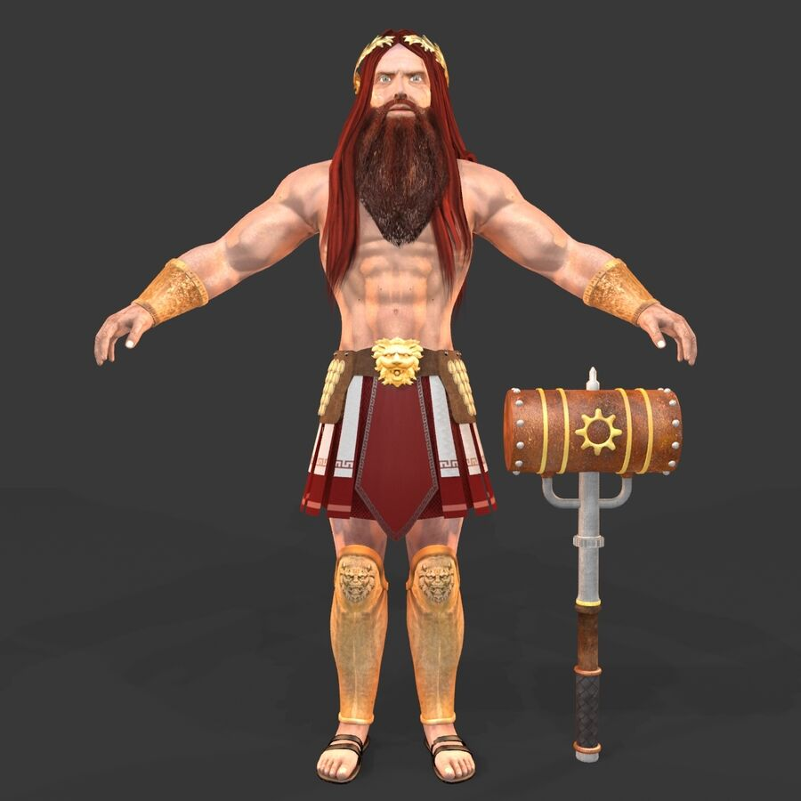 Hephaestus royalty-free 3d model - Preview no. 2