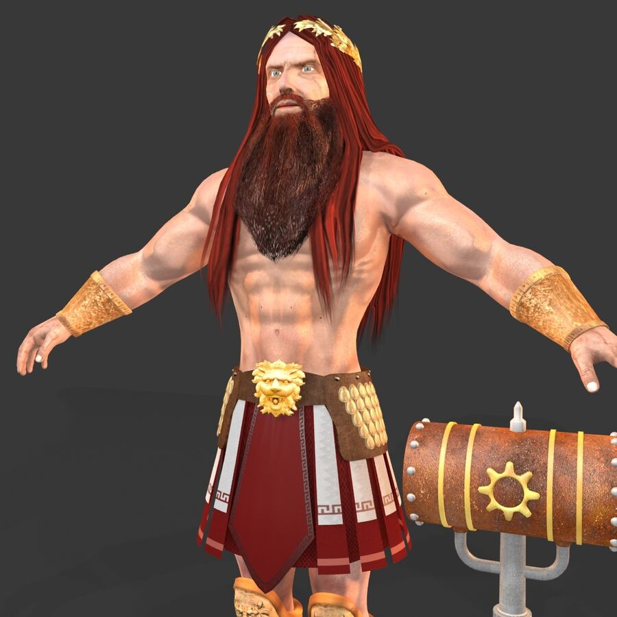 Hephaestus royalty-free 3d model - Preview no. 7