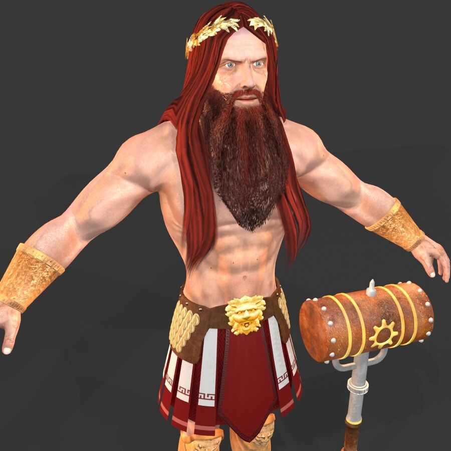 Hephaestus royalty-free 3d model - Preview no. 8