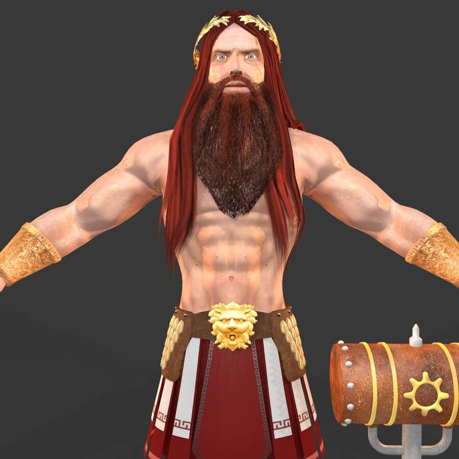 Hephaestus royalty-free 3d model - Preview no. 9