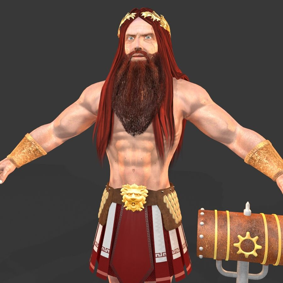 Hephaestus royalty-free 3d model - Preview no. 10