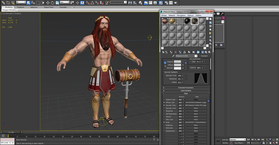 Hephaestus royalty-free 3d model - Preview no. 21