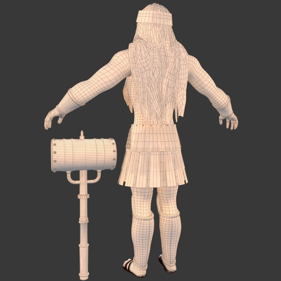 Hephaestus royalty-free 3d model - Preview no. 25