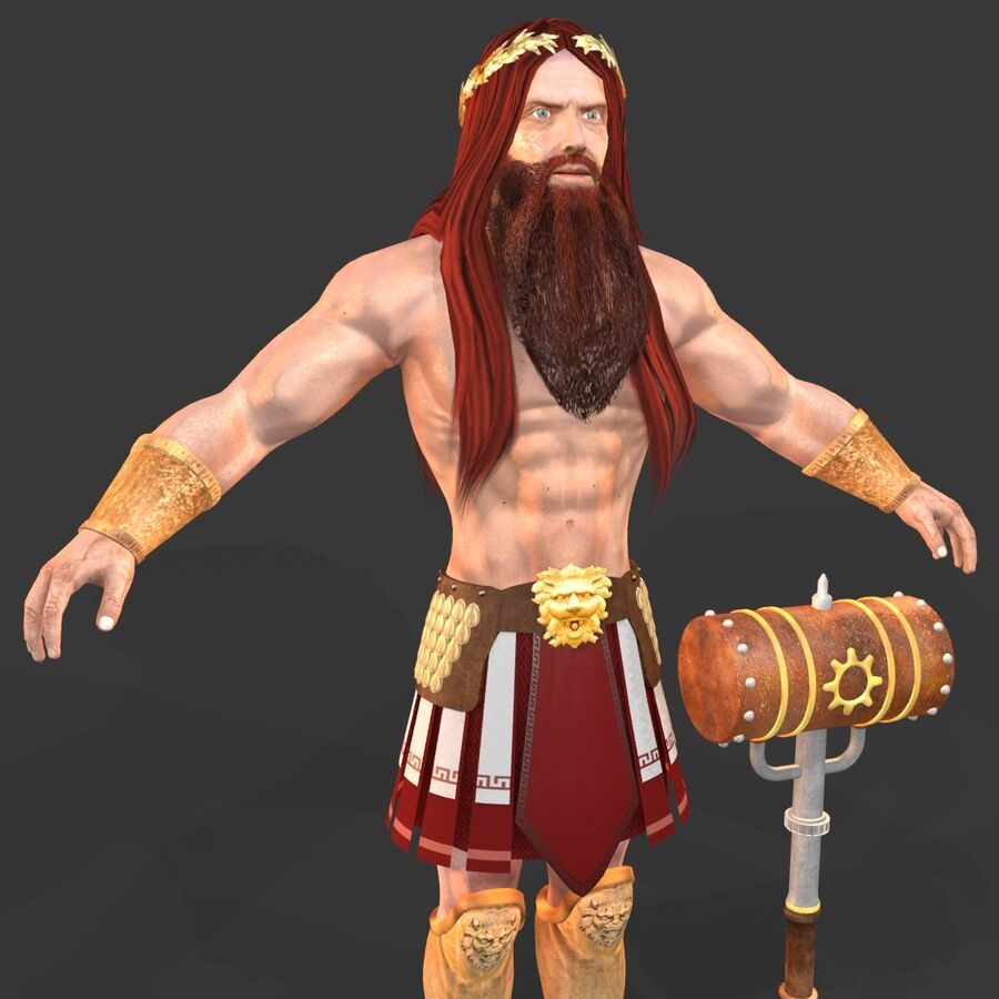 Hephaestus royalty-free 3d model - Preview no. 6