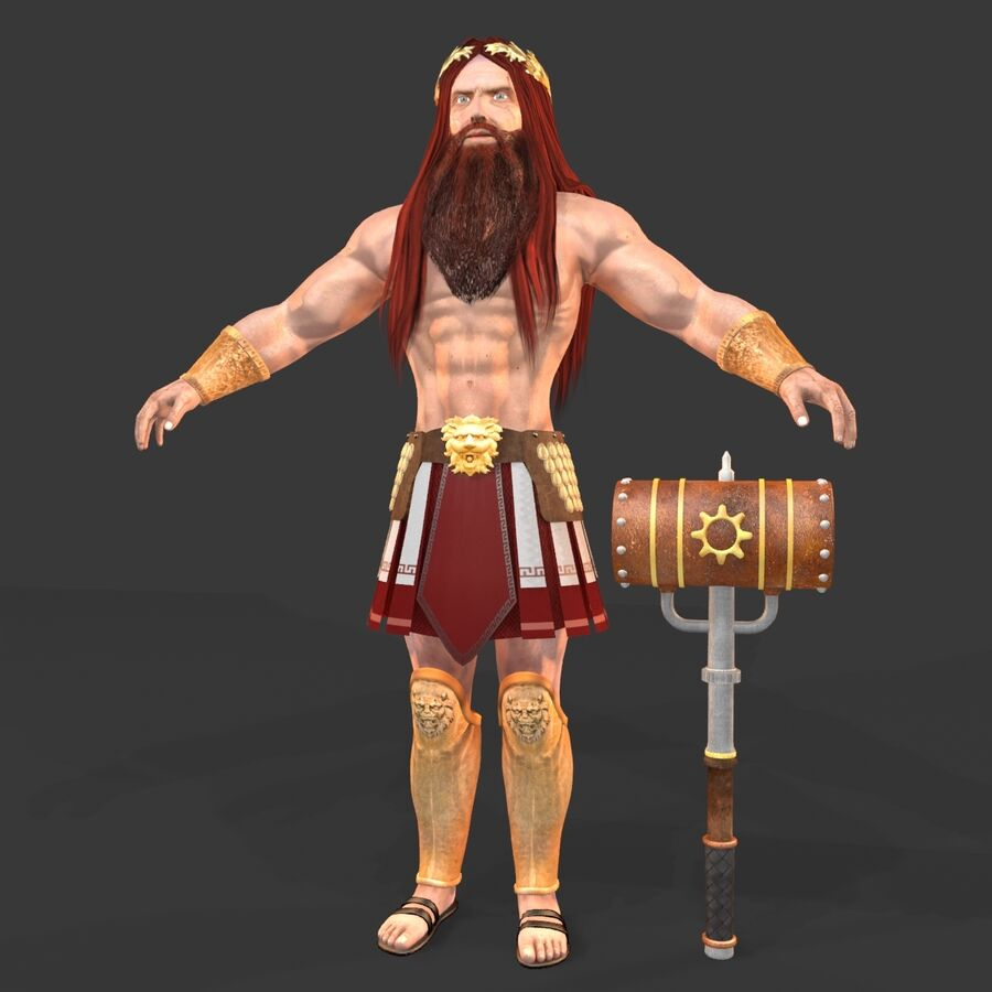 Hephaestus royalty-free 3d model - Preview no. 3