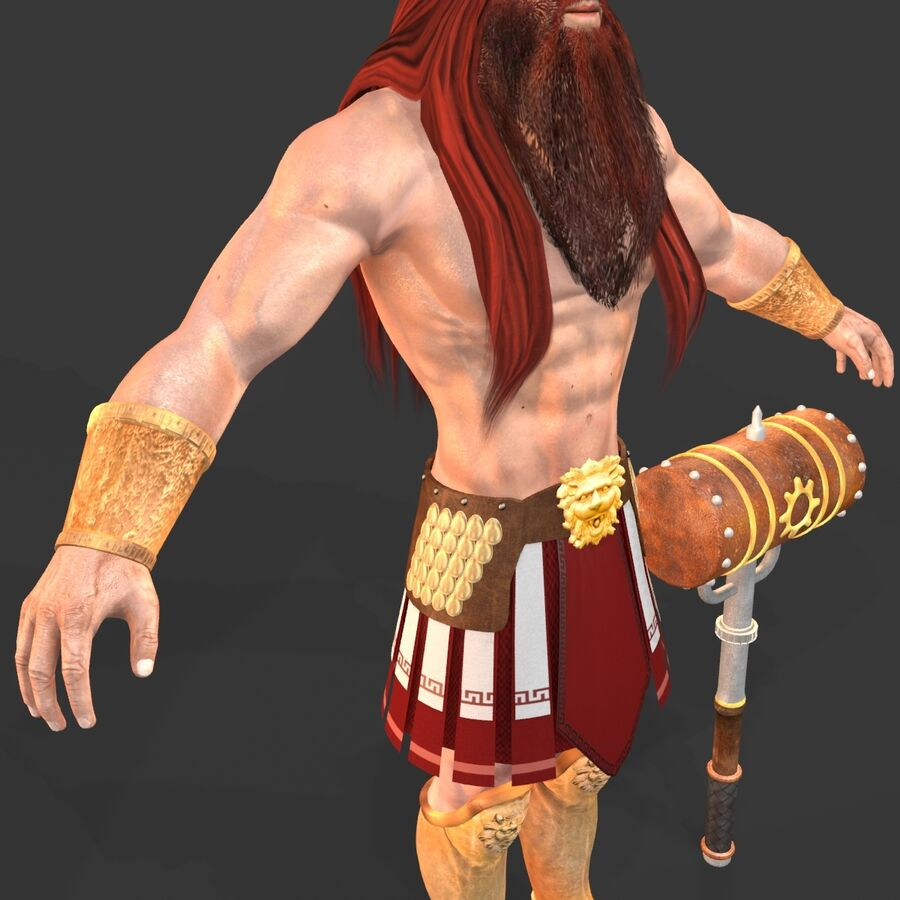 Hephaestus royalty-free 3d model - Preview no. 18